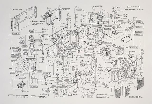 Nikon F3 - manual e diagrama de peças